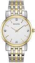 Bulova Mens 2-Tone Diamond Accent Watch 98D114