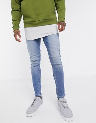 New Look skinny jean in mid blue wash