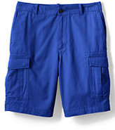 """Classic Men's Traditional Fit 11"""" Casual Cargo Shorts-Washed Navy Madras"""