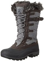 Kamik Women's Snowvalley Snow Boot, Charcoal, 7 M US