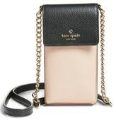 Kate Spade Leather Smartphone Crossbody Bag - Black