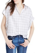 Madewell Women's Windowpane Plaid Central Shirt