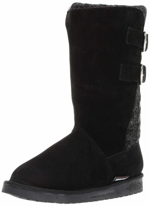 Muk Luks Women's Jean Boots - Ebony/Grey