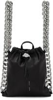 Kara Black Leather Chain Gym Backpack