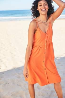 Next Womens Orange Strappy Dress - Orange