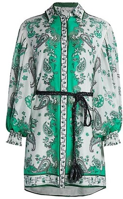 Alice + Olivia Oralia Button-Down Shirtdress