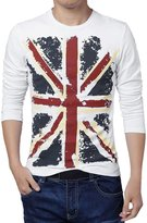 uxcell® Men Long Sleeves Union Jack T-Shirt S