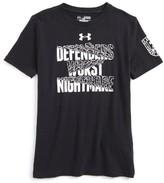 Under Armour Boy's Defenders Beware Heatgear T-Shirt