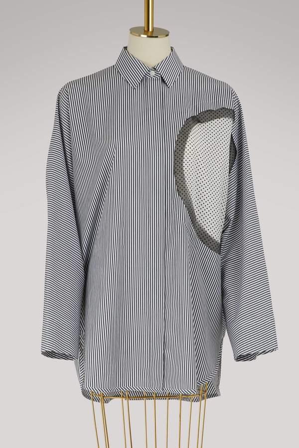 Maison Margiela Oversized striped shirt
