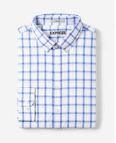 Express fitted check performance dress shirt