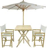 One Kings Lane Umbrella 4-Pc Square Dining Set - White
