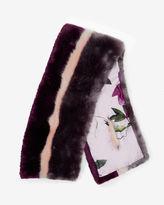 WYLA Stripe faux fur scarf