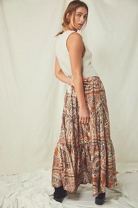 Free People Printed Moonbeam Maxi Skirt