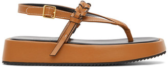 J.W.Anderson Brown Flatform Sandals