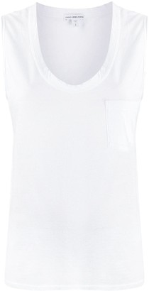 James Perse Chest Pocket Vest Top