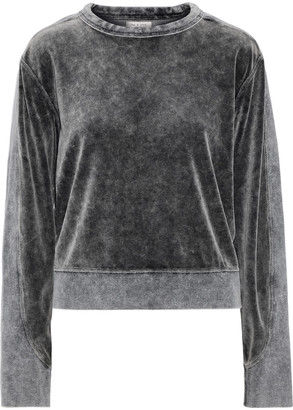 Rag & Bone Jersey-paneled Faded Cotton-blend Velour Sweatshirt