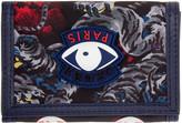 Kenzo Grey Trifold Eye Wallet
