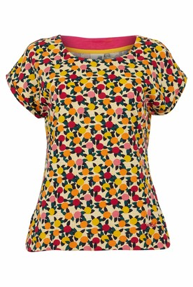 Weird Fish Paw Paw Organic Cotton Printed Jersey T-Shirt Apricot Size 18