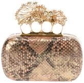 Alexander McQueen 'Kuckleduster' python skin clutch