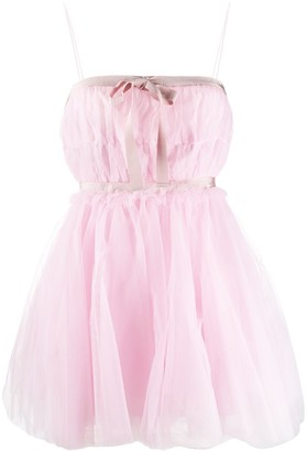BROGNANO Layered Babydoll Dress