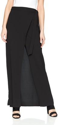 BCBGMAXAZRIA Women's Hilaria Wrap-Front Wide Pant
