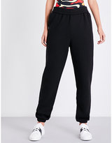 KENDALL + KYLIE KENDALL & KYLIE Move On high-rise cotton-jersey jogging bottoms