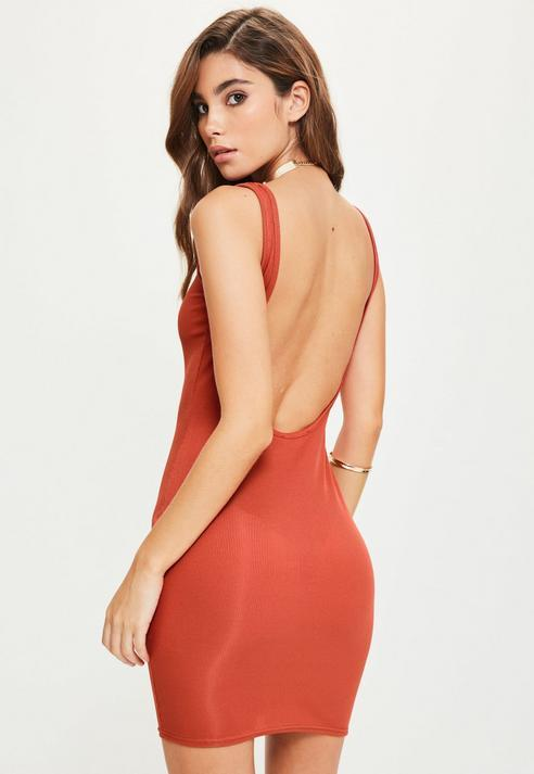 Missguided Scoop Back Bodycon Dress