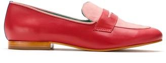 Blue Bird Shoes Boyish Heart leather loafers