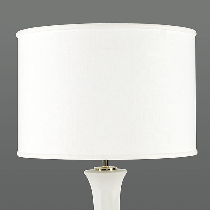 White Drum Lamp Shade The World, White Drum Lamp Shade