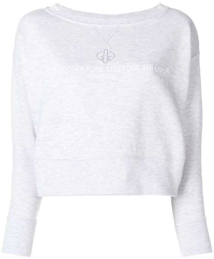 Golden Goose cropped logo sweatshirt