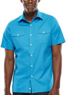 Claiborne Short-Sleeve Stretch Poplin Shirt
