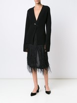 Jason Wu Feather Voile Skirt With Feather Embroidery