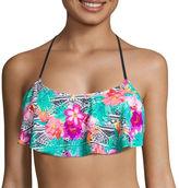 Arizona Floral Flounce Swimsuit Top-Juniors