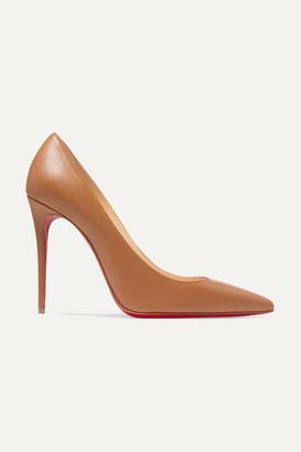Christian Louboutin Kate 100 Leather Pumps - Tan