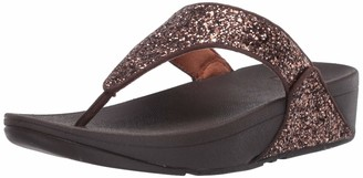 FitFlop Women's LULU Glitter Toe-Thongs Flip-Flop