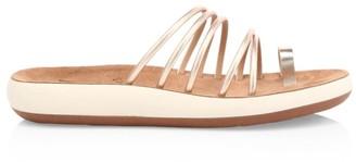 Ancient Greek Sandals Hypatia Metallic Flatform Sandals