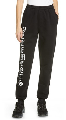Vetements Gothic Logo Sweatpants