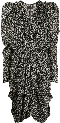 Isabel Marant Issolya leopard-print ruched dress