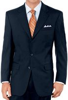 Jos. A. Bank Executive 2-Button Wool Suit with Pleated Front Trousers- Charcoal Fancy Plain, Navy, Olive Fancy Plain- Extended Sizes