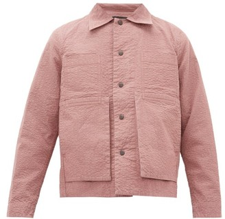 Craig Green Embroidered Puckered-canvas Jacket - Pink