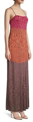 M Missoni Colorblock Maxi Dress