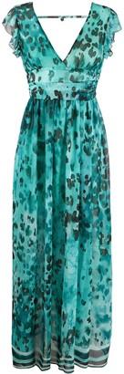 Liu Jo Printed Ruffle Sleeve Dress