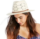 Sole Society Open Weave Straw Hat w/ Band
