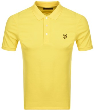 Lyle & Scott Short Sleeved Polo T Shirt Yellow