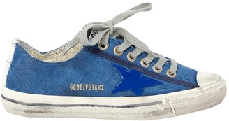Golden Goose Blue Suede Trainers
