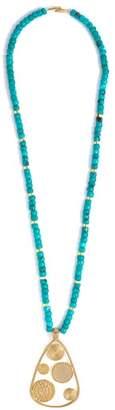 Joelle Gagnard Kharrat - Moneta Turquoise And Gold Plated Necklace - Womens - Blue