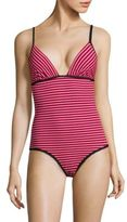 La Perla Daylighted Striped One-Piece Swimsuit