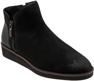 SoftWalk Leather Side Zip Ankle Boots - Wesley
