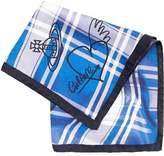 Vivienne Westwood Man Handkerchief, Blue White Tartan Check Hanky