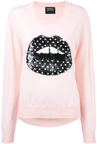 Markus Lupfer sequin lips sweater - women - Merino - S